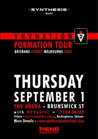 VNV Nation Formation Tour poster